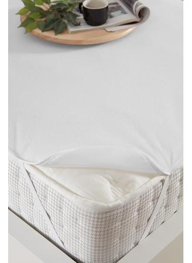 Decovilla 120x200 Pamuklu Köşe Lastik Sıvı Geçirmez Yatak Koruyucu Alez Beyaz